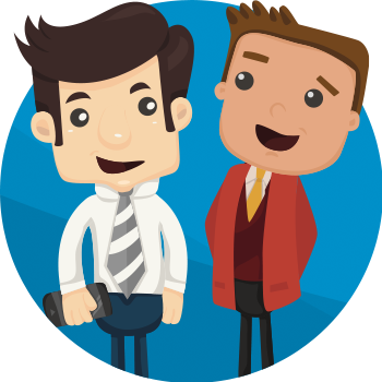 Twp business men shaking hands illustration